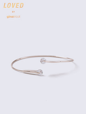 Gina Tricot armband Loved Rose Gold Crystal Bangle