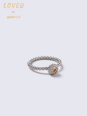Gina Tricot Loved Peach Stone Twist Ring