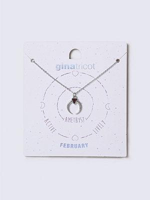Gina Tricot halsband February Purple Birthstone Necklace