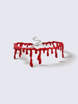 Gina Tricot halsband Halloween Red Drip Choker Necklace
