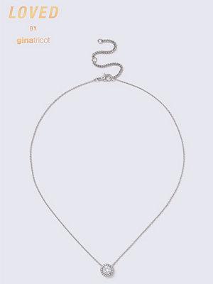 Gina Tricot halsband Loved Rhinestone Circle Ditsy Necklace