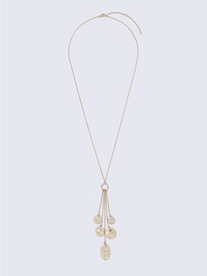 Gina Tricot halsband Gold Look Charm Tassel Chain Necklace