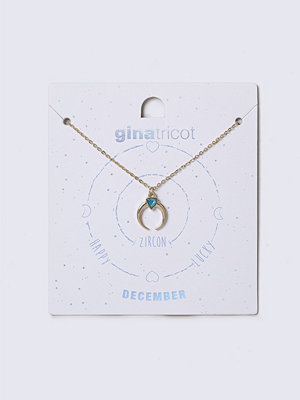Gina Tricot halsband December Blue Birthstone Necklace
