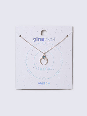 Gina Tricot halsband March Turquoise Birthstone Necklace