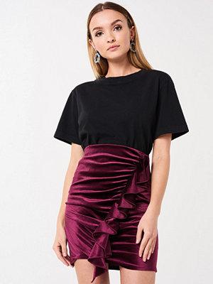 Gina Tricot Cilla velvet skirt