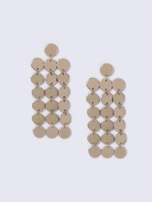 Gina Tricot örhängen Gold Look Disc Drop Earrings