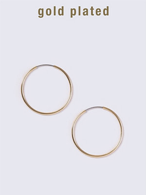 Gina Tricot örhängen Gold Plated Medium Thin Hoop Earrings