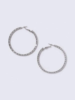 Gina Tricot örhängen Silver Look Thick Textured Hoop Earrings