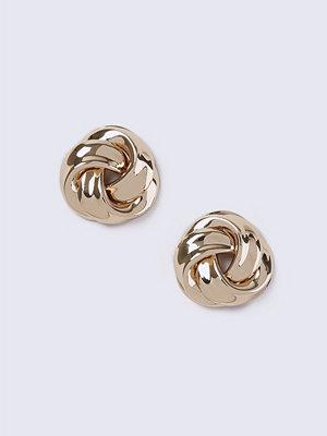 Gina Tricot örhängen Gold Look Chunky Knot Stud Earrings