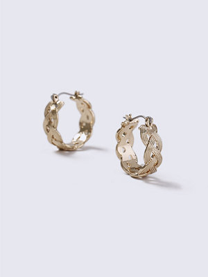 Gina Tricot örhängen Gold Look Mini Plait Hoop Earrings