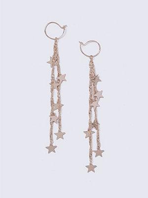 Gina Tricot örhängen Rose Gold Look Star Drop Earrings