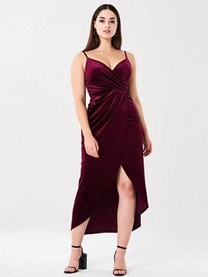 Gina Tricot Lemona maxi klänning i sammet