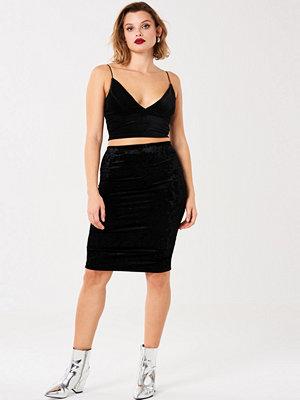 Gina Tricot Thea velvet skirt