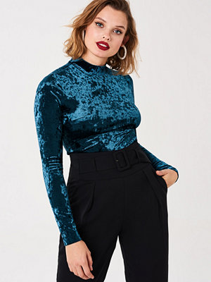 Gina Tricot Thea velvet top