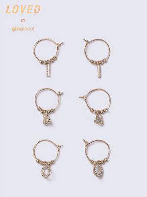 Gina Tricot örhängen Peach Loved Cubic Zirconia Earrings Pack