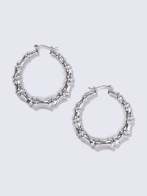 Gina Tricot örhängen Rhodium Bamboo Hoop Earrings