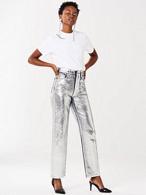 Gina Tricot ljusgrå byxor Aino jeans