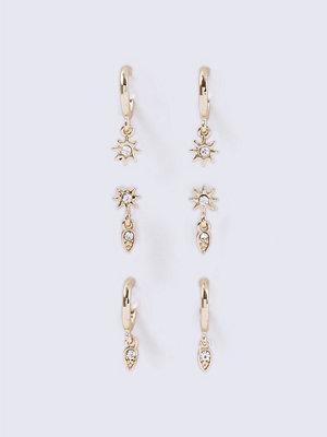 Gina Tricot örhängen Gold Look Star Hoop Earrings Pack