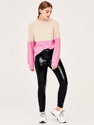 Gina Tricot svarta byxor Erin patent trousers