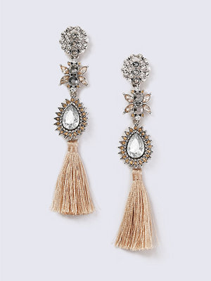 Gina Tricot örhängen Rhinestone and Tassel Statement Earrings