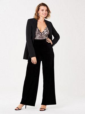 Gina Tricot svarta byxor Milly velvet trousers