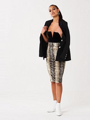 Gina Tricot Vanja velvet skirt