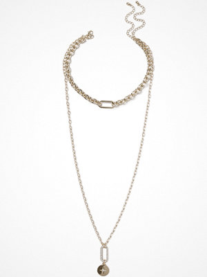 Gina Tricot halsband Gold Look Multirow Necklace