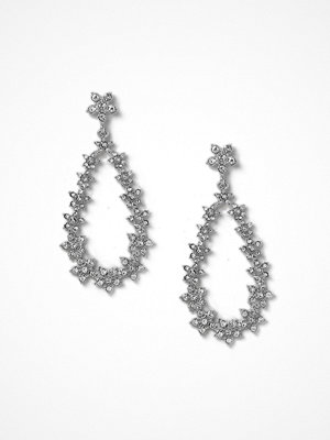 Gina Tricot örhängen Rhodium Flower Drop Earrings