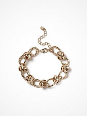 Gina Tricot armband Gold Look Chain Ball Wristwear
