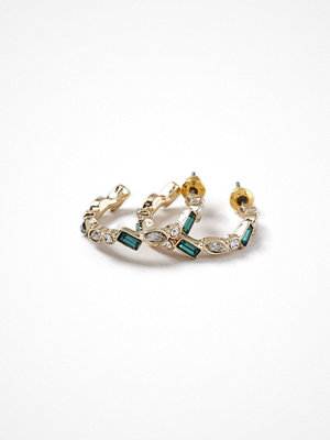 Gina Tricot örhängen Emerald Multi Stone Hoop Earrings