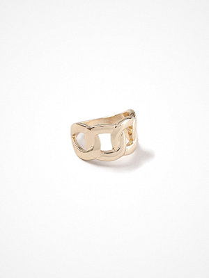 Gina Tricot Gold Look Curb Chain Chunky Ring