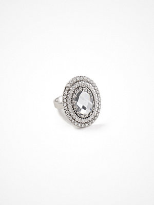 Gina Tricot Rhodium Oversized Ring