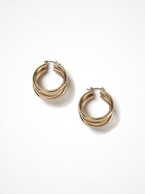 Gina Tricot örhängen Gold Look 3 Row Chunky Hoop Earrings