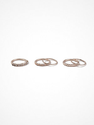 Gina Tricot Rose Gold Pretty Ring Multipack