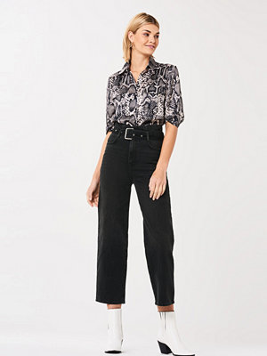 Gina Tricot Mia belted paperbag jeans