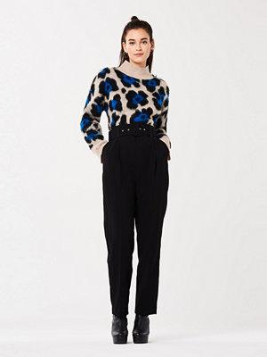 Gina Tricot svarta byxor Marika belted trousers