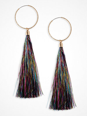 Gina Tricot örhängen Bright Pink Multi Tinsel Tassel Earrings