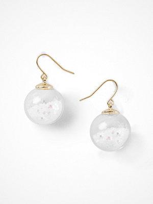 Gina Tricot örhängen White Glitter Ball Earrings