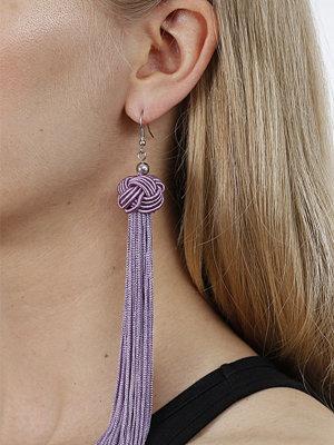 Gina Tricot örhängen Purple Knot Tassel Earrings