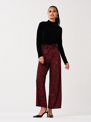 Gina Tricot mönstrade byxor Pao paperbag waist trousers