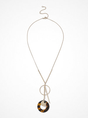 Gina Tricot halsband Gold Look Tort Circle Stick Necklace