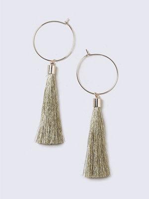 Gina Tricot örhängen Gold Tassel Hoop Earrings