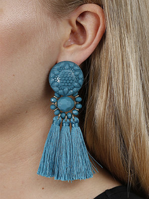 Gina Tricot örhängen Turquoise Beaded Tassel Earrings