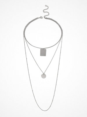 Gina Tricot halsband Silver Look Long  Multirow Necklace