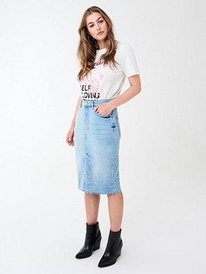 Gina Tricot Midi slit denim skirt