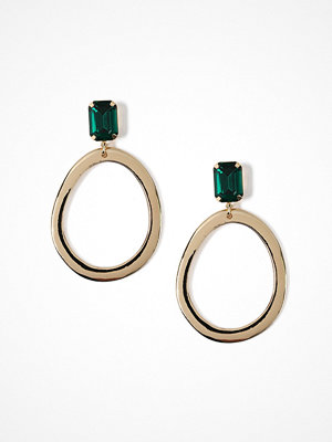 Gina Tricot örhängen Emerald Top Gold Hoop Earrings