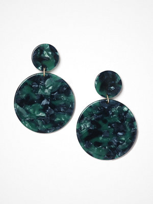 Gina Tricot örhängen Green Look Double Disk Earrings
