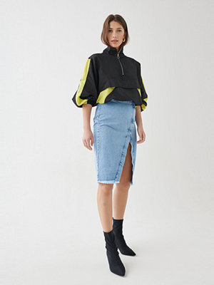 Gina Tricot Ebba wrap denim skirt