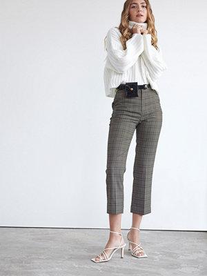 Gina Tricot grå rutiga byxor Lisa trousers