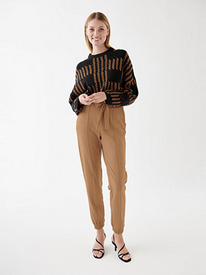 Gina Tricot beige byxor Ines trousers